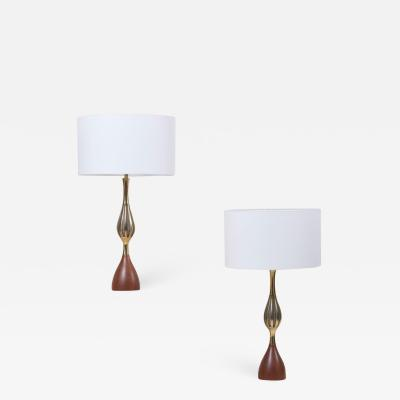Tony Paul Pair of Tony Paul Table Lamps for Westwood Lightning US 1960s