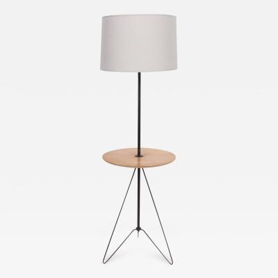 Tony Paul Tony Paul Style Maple Black Wire Hairpin Side Table Floor Lamp C 1960