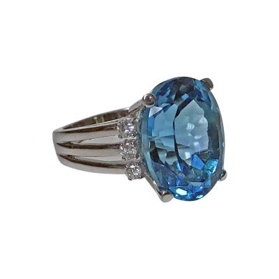 Topaz and Diamond Ring 20th century