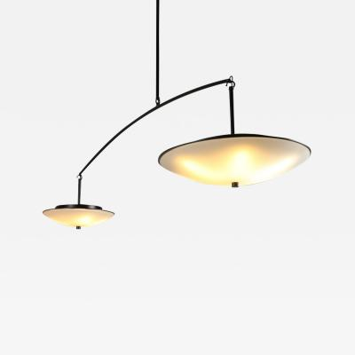 Topher Gent Draftsman No 3 Cantilevered Steel Light Fixture by Topher Gent