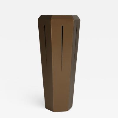 Topher Gent Hedra 14T Geometric Steel Table in Metallic Bronze by Topher Gent