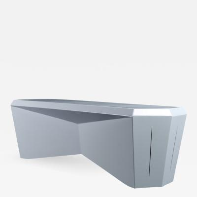Topher Gent Hedra Bench Heometric Steel Bench by Topher Gent