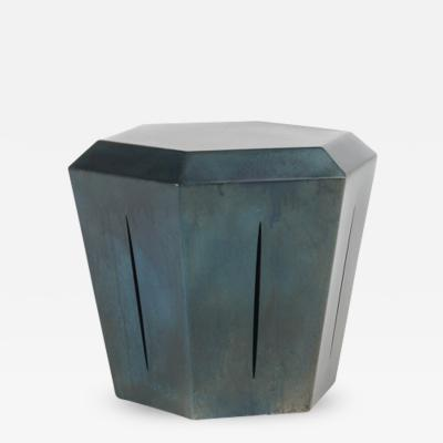Topher Gent Topher Gent Hedra 14S Steel Table Stool with Deep Blue Patina