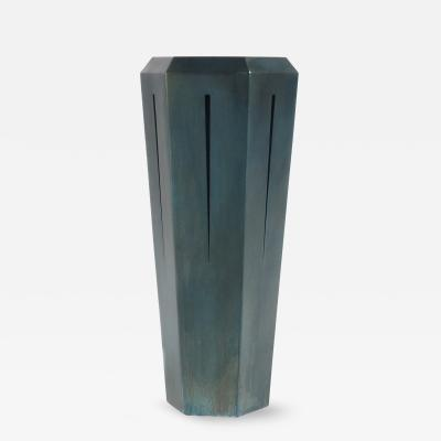 Topher Gent Topher Gent Hedra 14T Steel Table Pedestal with Deep Blue Patina