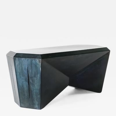 Topher Gent Topher Gent Hedra HCT Steel Table Bench in Deep Blue Patina