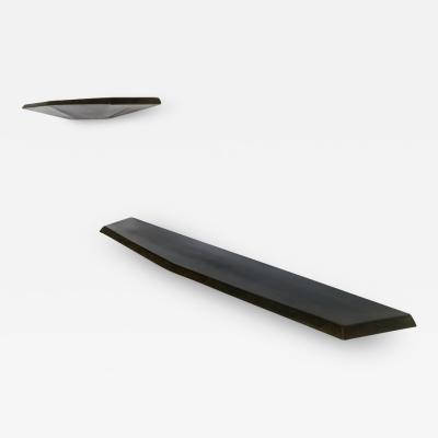 Topher Gent Topher Gent Hedra HS Steel Floating Console Shelf in Blackened Steel