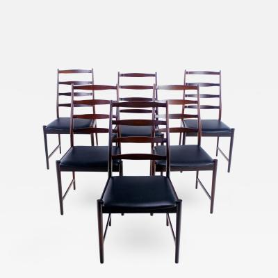 Torbj rn Afdahl Set of Six Danish Modern Rosewood Dining Chairs By Torbj rn Afdahl