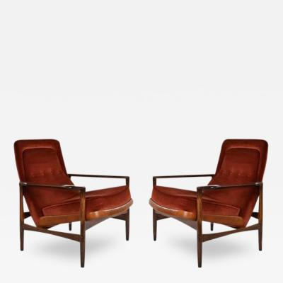 Torbj rn Afdal Pair of Torbj rn Afdal for Selig Lounge Chairs