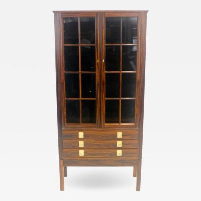 Torbjorn Afdal Distinctive Scandinavian Modern Rosewood Display Case by Torbjorn Afdahl