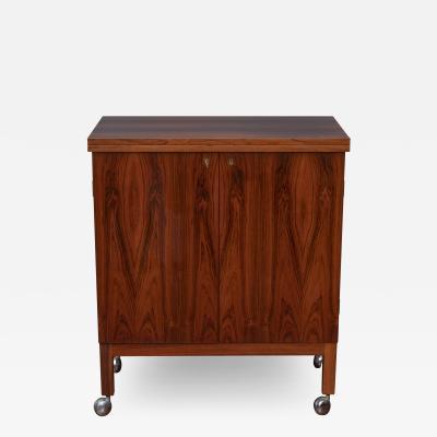 Torbjorn Afdal Scandinavian Modern Rosewood Bar Cabinet by Torbjorn Afdal for Bruskbo