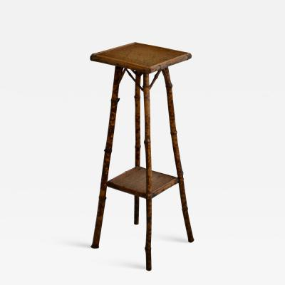 Tortoise Shell Bamboo Plant Stand