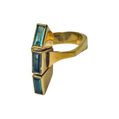 Tourmaline 18ct Green Gold Ring Custom Design