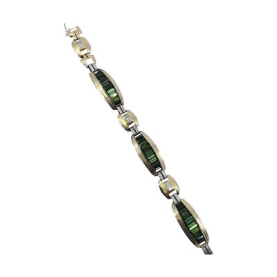 Tourmaline Deco Bracelet