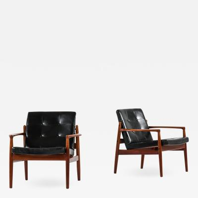 Tove Edvard Kindt Larsen Easy Chairs Model Viken Produced by OPE