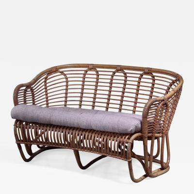Tove Edvard Kindt Larsen Kindt Larsen bamboo and cane sofa Denmark