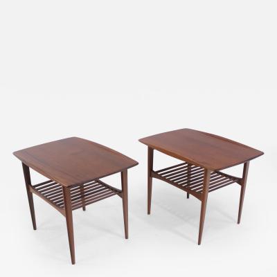 Tove Edvard Kindt Larsen Pair of Danish Modern Teak End Tables Designed by Tove Edvard Kindt Larsen