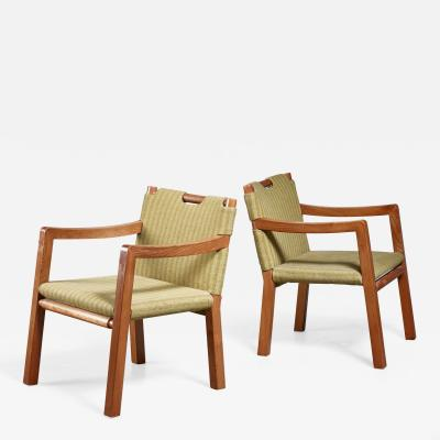 Tove Edvard Kindt Larsen Tove Edvard Kindt Larsen pair of chairs Denmark 1930s
