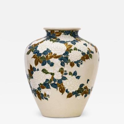 Tozan I Ito Japanese Ceramic Vase by Ito Tozan I Meiji Period