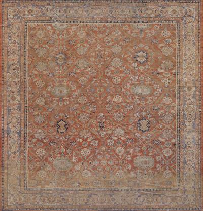 Traditional Handwoven Antique Sultanabad Rug