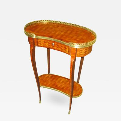 Transitional Louis XV Style Parquetry Table