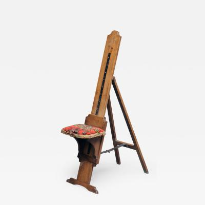 Traveling Combination Artists Chair and Easel