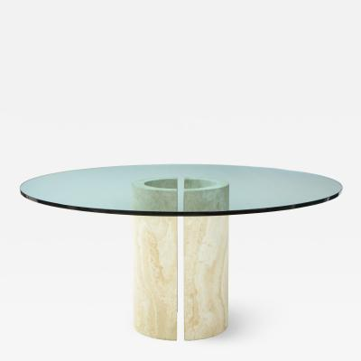 Travertine Dining Table Side Table