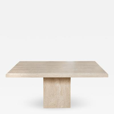 Travertine Pedastal Table Desk
