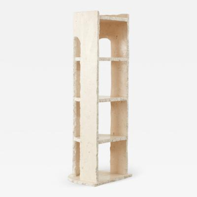 Travertine shelving unit France c 1970