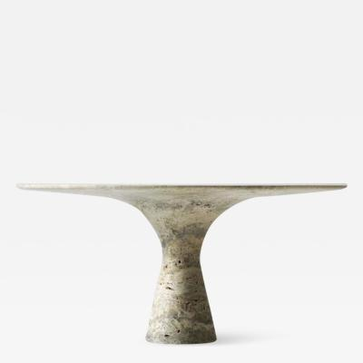 Travertino Silver Refined Contemporary Marble Dining Table 130