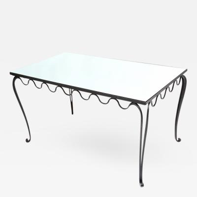 Trendy Wrought Iron Desk Dining Table