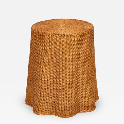 Trompe Loeil Woven Rattan Table