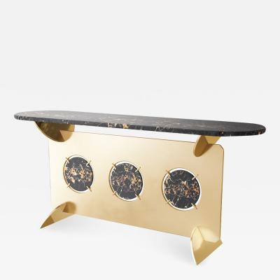 Troy Smith 21st Century Contemporary Bronze Marble Glass Limited Edition Console