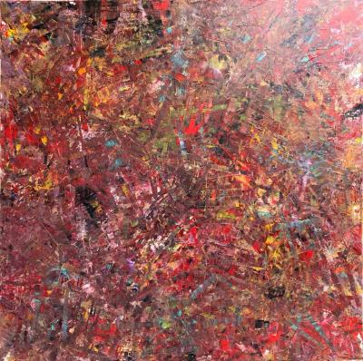 Troy Smith ACRYLIC PAINTING BY ARTIST TROY SMITH 60 X 60 CONTEMPORARY ART ABSTRACTION