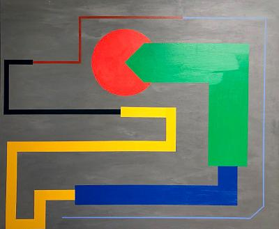 Troy Smith ACRYLIC PAINTING BY ARTIST TROY SMITH 60 X 72 CONTEMPORARY ART ABSTRACTION