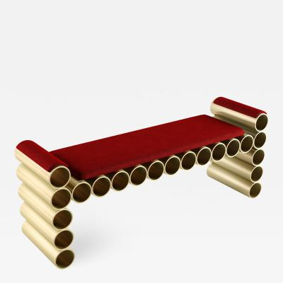 Troy Smith PIPE BENCH BY ARTIST TROY SMITH CONTEMPORARY DESIGN ARTIST PROOF
