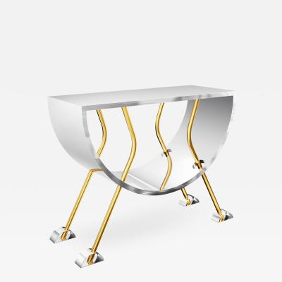 Troy Smith Stainless Steel and Brass Contemporary Console