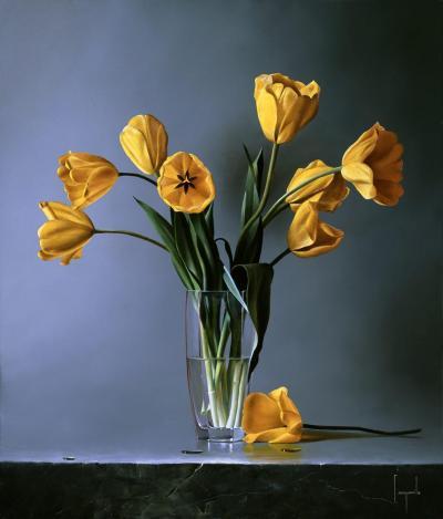 Tulipani Gialli Giclee by Dario Campanile