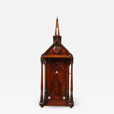 Tunbridge Ware Exquisite Tunbridgeware Chapel Form Box Chest