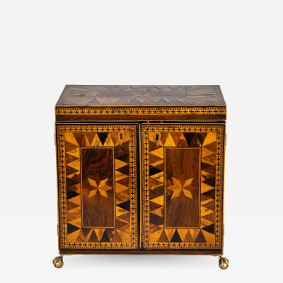 Tunbridge Ware Inlaid Rosewood Jewelry Box