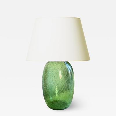 Ture Berglund Artisanal Functionalist Glass Lamp Attirb to Ture Berglund