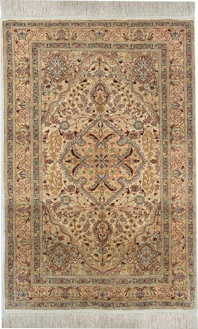 Turkish Hereke Pure Silk Rug 107 x168 cm
