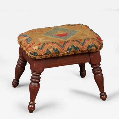 Turned Footstool
