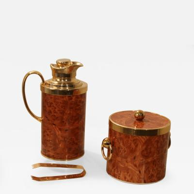 Turnwald Collection Turnwald CollectionGilt Set of Ice Bucket and Thermos Can