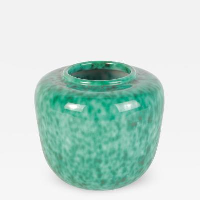 Turquoise Ceramic Vase Elchinger 60s