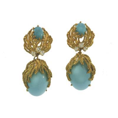 Turquoise Detachable Drop Earrings