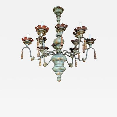 Tuscan Painted Chandelier