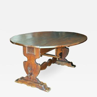Tuscan Walnut drop leaf Center table circa 1850