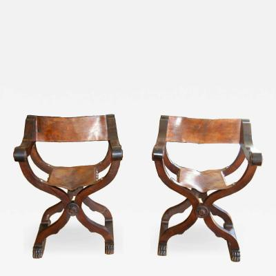 Tuscan folding chairs Circa 1860