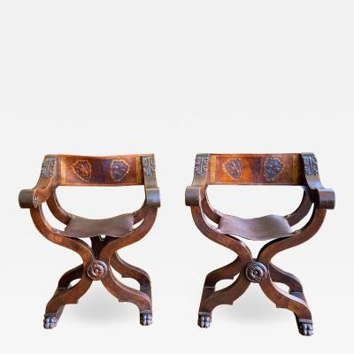 Tuscan folding chairs Circa 1860