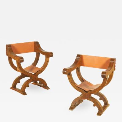 Tuscan inlaid folding chairs Circa 1860